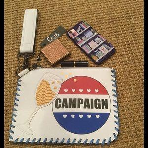 🍾🥂NWT Champagne Campaign Clutch🍾🥂